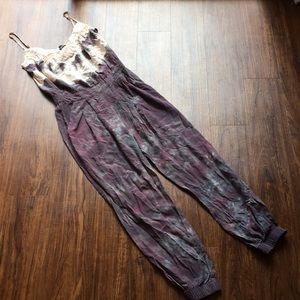 Gypsy 05 silk tie dye jumpsuit size small